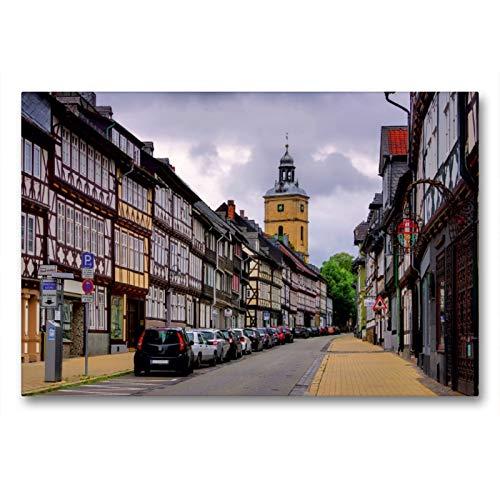 Premium Textil-Leinwand 90 x 60 cm Quer-Format Goslar   Wandbild, HD-Bild auf Keilrahmen, Fertigbild auf hochwertigem Vlies, Leinwanddruck von LianeM