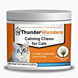 ThunderWunders Cat Calming Chews | Vet Recommended to Help Reduce Situational Anxiety | Great for Vet Visits, Travel, Separation Anxiety, Fireworks, Thunderstorms & More | 100 Count