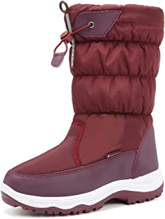 Womens Frosty Snow Boots, Winter Boot Waterproof Fur Lined Warm Outdoor Sled Snow Boot