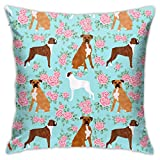 WZSY Boxers Lockscreen Lockscreens Dogs Pillow Covers Cute Cotton Polyester Cushion Cover Cases Pillowcases Sofa Home Decor 18X 18Inch