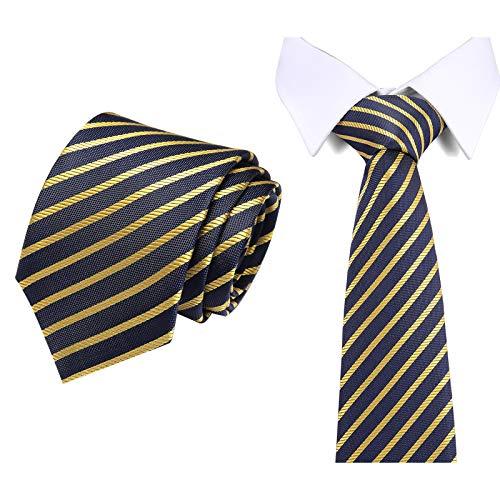 Jamron Hombre Corbata Pañuelos de Bolsillo Gemelo Set de Regalo Rayas Cuadros Paisley Corbata de Boda SN071109 SB85