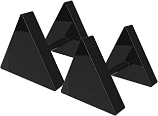 16G Black Triangle Screw Stud Earrings for Men and Women, 2pcs Surgical Steel Screw on Back Hypoallergenic Ear Studs Teens
