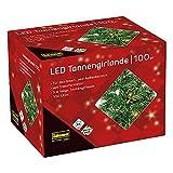 Idena 31814 - LED Tannengirlande mit 100 LED warmweiß, mit 8 Stunden Timer...