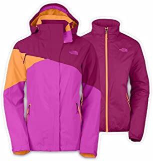 The North Face Cinnabar Triclimate Jacket Womens (Small Dramatic Plum/Luminous Pink/Impact Orange)