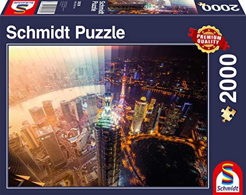 Puzzle 58239 Puzzle 2.000 Piezas, día y Noche, segmento de Tiempo