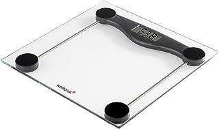 Korona 74540 Olivia - Báscula digital de cristal (180 kg, 100 g), color negro