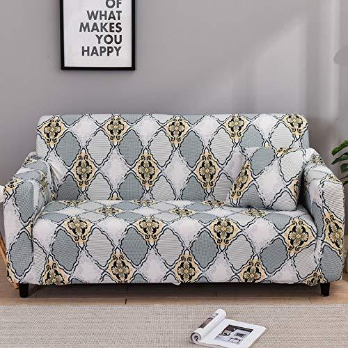 Fundas Protectoras de sofá geométricas Sala de Estar Fundas elásticas elásticas para sofá de Esquina seccionales A10 2 plazas