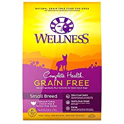 Wellness Complete Health Natural Grain Free Dry Dog Food Small Breed Turkey, Chicken & Salmon