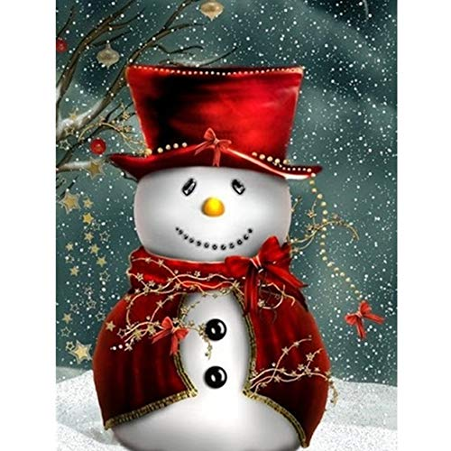 5D Christmas Snowmen Diamond Painting Kits for Adults,DIY Full Drill Crystal Rhinestone Embroidery Painting Dotz Art Craft,Xmas Gift for Home Wall Decor(Snowman 5/11.8x15.8inch)