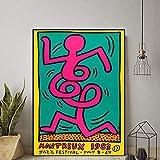 Abstrakte Straße Graffiti Montreux Jazz Festival Poster
