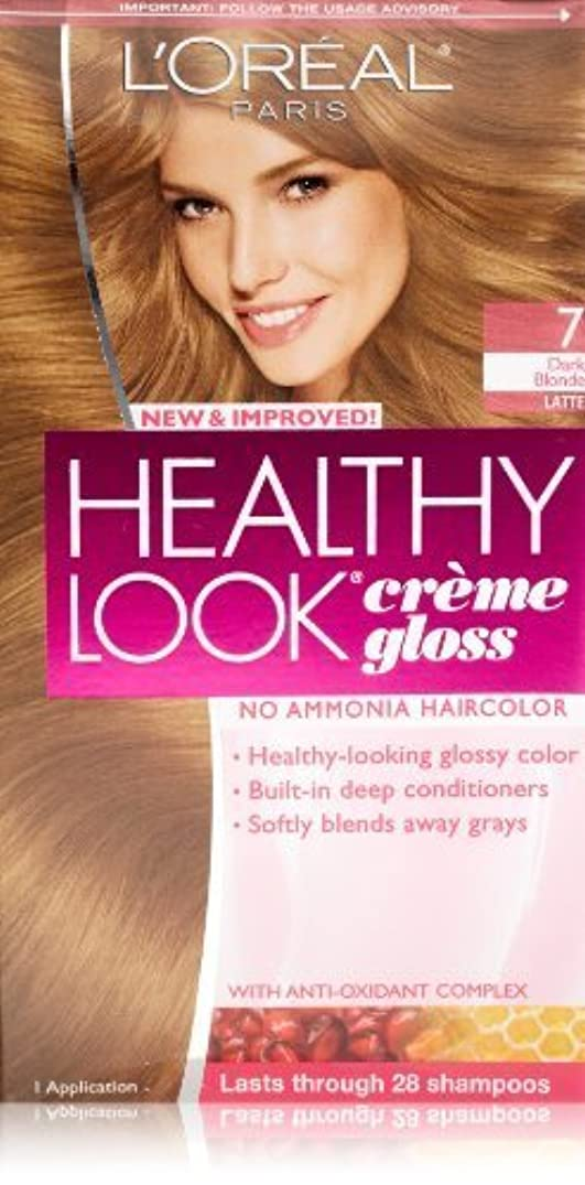 設置好きであるチロHealthy Look Dark Blonde, Latte by L'Oreal Paris Hair Color [並行輸入品]