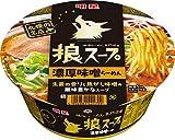 明星 狼スープ 濃厚味噌らーめん 105g ×12個