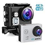 WiMiUS Action Cam 4K 12MP 40M Unterwasserkamera WiFi Ultra HD Actioncam 170 ° Weitwinkel Sport Cam...