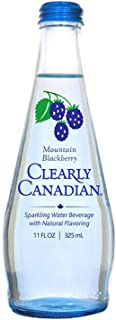 Clearly Canadian Mountain Blackberry Sparkling Water - 11 oz bottles (Pack of 12)