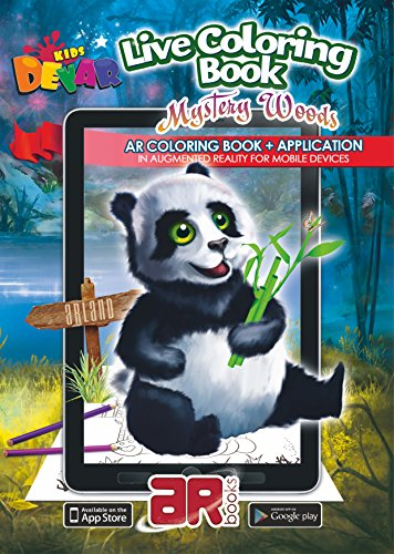 Devar Kids Augmented Reality Mystery Woods Coloring Book