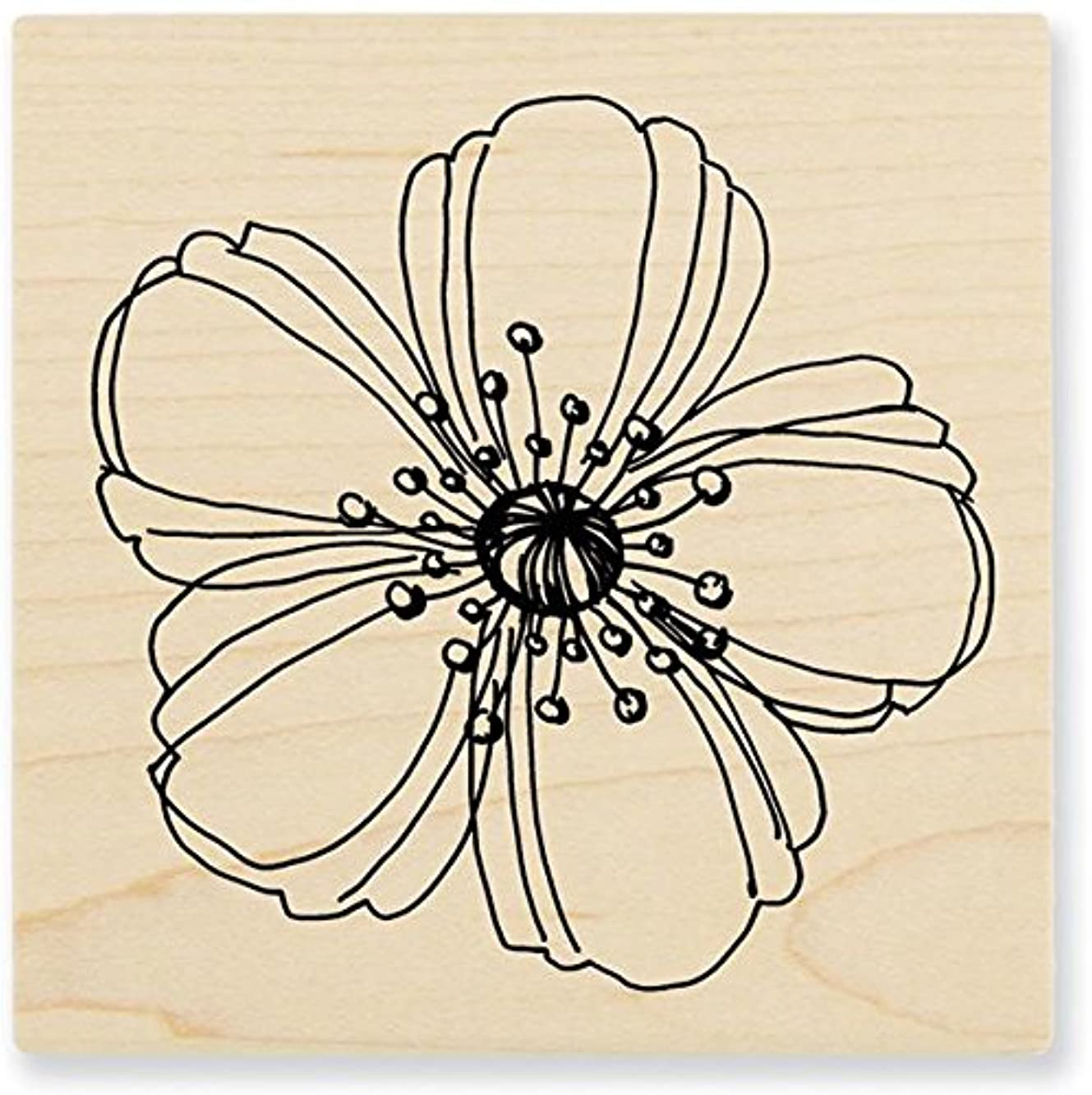Stampendous Mounted Rubber Stamp, 3 by 3-Inch, Fresh Bloom