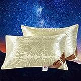 N-B 1 Pieza 48 * 74 cm Almohada de Seda la Familia o el Hotel Protege el Cuello rellena Las cómodas Almohadas para Dormir...