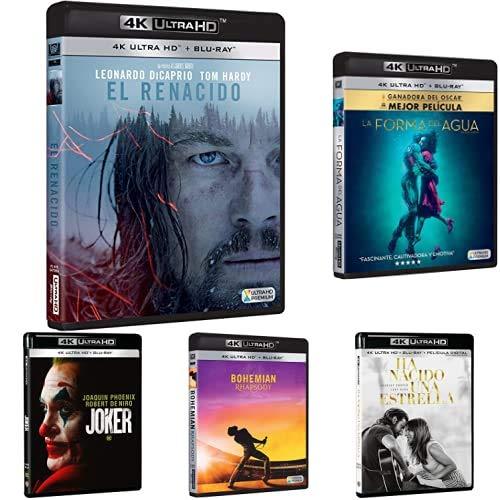 Pack Ganadoras de Oscar - Incluye: El Renacido + La Forma del Agua + Ha Nacido Una Estrella + Bohemian Rhapsody + Joker 4k UHD [BLU-Ray]