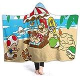 QIAOQIAOLO Super Mario - Manta con capucha para dormitorio (60 x 50 pulgadas)