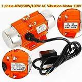 40/50/100W 3600 RPM AC110V Vibration Motor Vibrating Asynchronous Vibrator 3600 RPM Fast Heat Dissipation High Temperature Industrial Vibrator (40W)