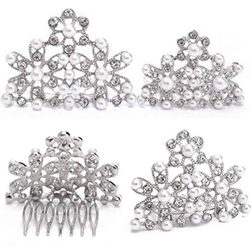 Utopiat Audrey estilo perla tiara peine peinado disfraz mujer inspirada en BAT