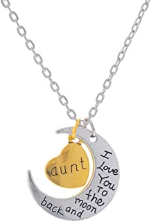 Aunt Gifts Aunt Heart Pendant Necklace Family Member Birthday Christmas Gifts for Aunt..