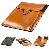 Urcover Handgefertige Fashion Designer Mac-Book Pro 15,4 Zoll (50 cm) Tasche Hülle Tasche Sleeve dpark Style Notebooktasche Laptophülle Dunkel Grau Braun