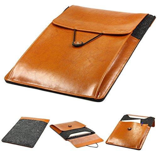 Urcover Handgefertige Fashion Designer Mac-Book Air 11,6 Zoll (40 cm) Tasche Hülle Tasche Sleeve dpark Style Notebooktasche Laptophülle Dunkel Grau Braun