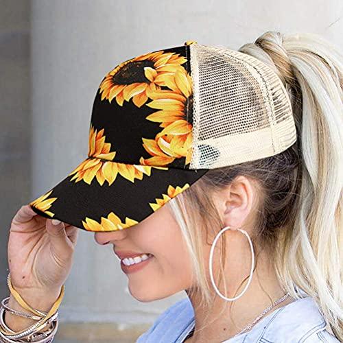 Damska słonecznik czapka baseballowa siatka krzyż Hallow Out czapka baseballowa wysokie niechlujne babeczki kucyki na zewnątrz kapelusz słoneczny do wędkowania wędrówek