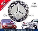 Insignia de capó de Mercedes SLK, insignia plana de dos clavijas, pieza A6388170116