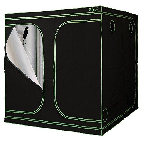 Zelsius Tente de culture MyHomeGrow | Chambre ou armoire de culture, chambre noire, serre (200 x 200 x 200 cm, Noir)