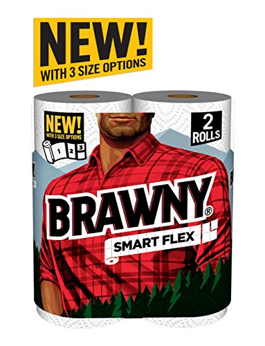Brawny Smart Flex Paper Towel Rolls, 2 Count