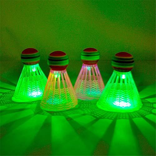 Fencelly, volano da badminton a LED, luce notturna buia, palloni da badminton, volano variopinto per sport all'aria aperta e al coperto
