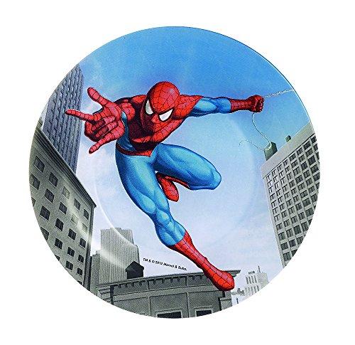 Dajar Assiette Dessert Spiderman 19,6 cm Verre, Rouge, Bleu, 19,6 cm cm