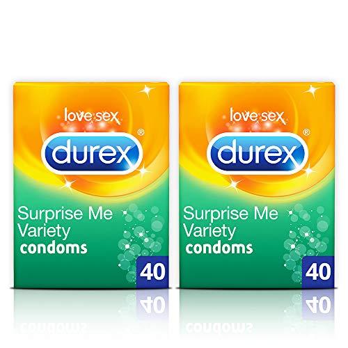 Durex Surprise Me Preservativi 40 Pack x 2 (80 preservativi)