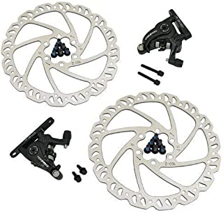 TEKTRO MD-C550 Road Flat Mount Mechancial Disc Brake Set 160mm Rotors, Front and Rear, MH1849
