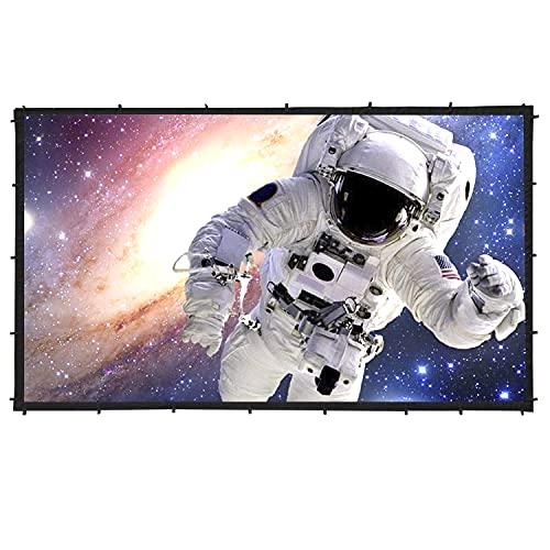 プロジェクター スクリーン Sewinfla 90 インチ 16:9 HD 両面投影可能壁掛けスクリーン 折りたたみ式 ホームシアター スクリーン 屋外屋内用 会議 映画 シワなし