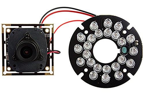ELP Videocamere di Sorveglianza ELP-USB100W04H series Visore Notturno 720P H.264 USB Camera Module con Microfono e IR LED & IR CUT per Industrial (2.1mm lens)