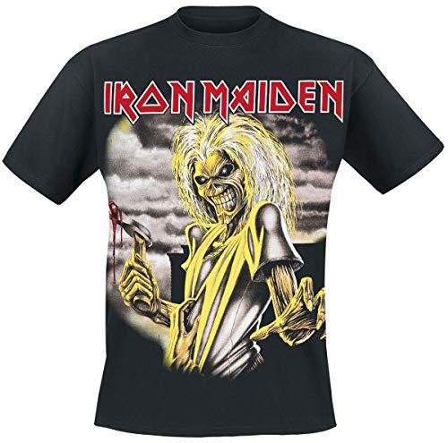 Iron Maiden Killers Hombre Camiseta Negro S, 100% algodón, Regular