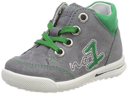 Superfit Baby Jungen Avrile Mini Sneaker, Grau (Smoke Kombi), 23 EU