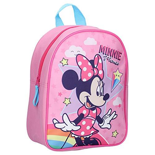 Disney Minnie Mouse Kinderrucksack - Sterne & Regenbogen - Rosa