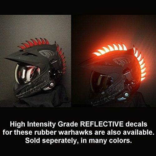 customTAYLOR33Zubehör für Motorradhelm, Design Warhawk/Mohawk zum Verzieren des Helms, Sägeblatt aus Gummi (Helm nicht im Lieferumfang enthalten) - 8