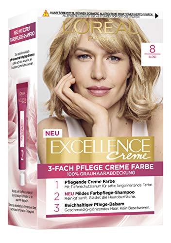 L'Oréal Paris Excellence Crème 8 Blond 3er Pack(3 x 268 g)