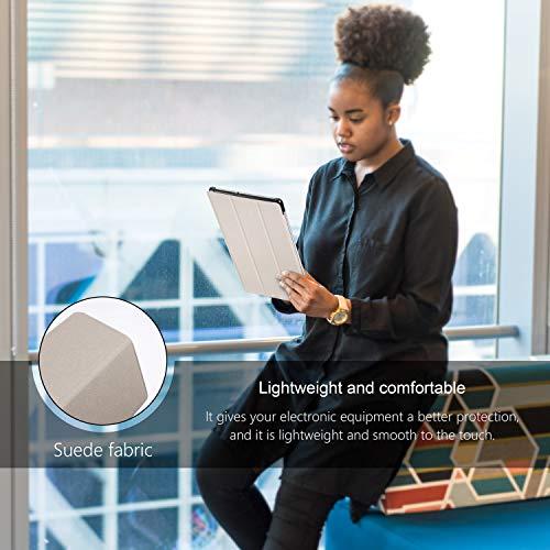 AROYI Hülle und Panzerglas kompatibel mit Samsung Galaxy Tab S5e 10.5, Schlank Schutzhülle Hochwertiges PU mit Standfunktion Glas Panzerfolie für Samsung Galaxy Tab S5e 10.5 (Schwarz)