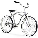 Firmstrong Urban Man Beach Cruiser Bike, Mens Bicycle 26-Inch, 1-Speed, Chrome
