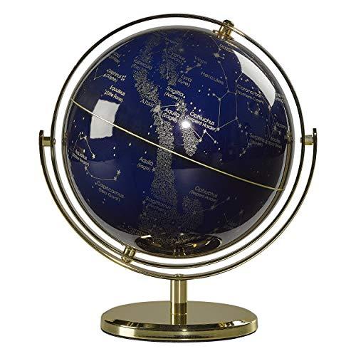 Wild Wood Illuminated Constellation Globe with Stand, LED Lighting, and USB Plug, 8