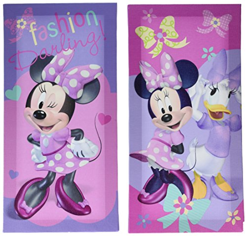 Disney Minnie Mouse Canvas Wall Art (2 Pack), 7 x 14