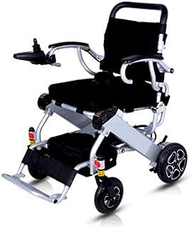 Inicio Accesorios Ancianos Discapacitados Silla de ruedas eléctrica plegable ligera 23 kg (rango de 20 km) Joystick de 360 grados Capacidad de peso 100 kg Ancho del asiento 40 cm Sillas de ruedas