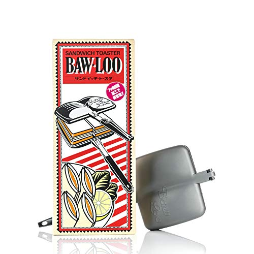 Bawloo Stove Top Panini Press & Hot Sandwich Maker - MADE IN JAPAN, MADE TO LAST - Double compartment