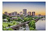 Lantern Press Richmond, Virginia - Skyline at Sunset 9005597 (1000 Piece Premium Jigsaw Puzzle for Adults and Family, 19x27)